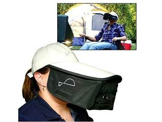 The TV Hat allows you to don a baseball cap that will black out everything except your iPhone screen.