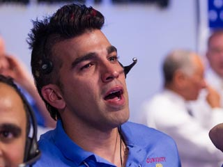"Mars Science Laboratory Systems Engineer Bobak Ferdowsi has become a viral hit as the ""NASA Mohawk Guy."" (©NASA/Bill Ingalls via Flickr)"