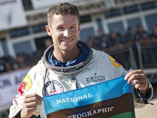 Felix Baumgartner. (©PRNewsFoto/National Geographic Channels)