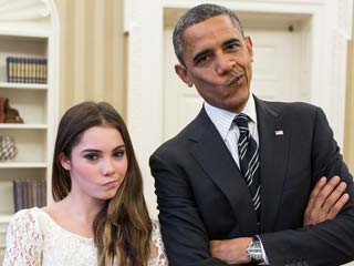 McKayla Maroney & President Obama (Official White House Photo by Pete Souza)