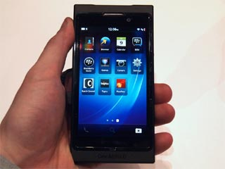 The BlackBerry 10. (Image courtesy of Digital Trends)