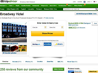 Screenshot of Tripadvisor.com