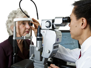 The only way to detect serious eye diseases before they cause vision loss or blindness is through a comprehensive dilated eye exam (&amp;copy; National Eye Institute / National Institutes of Health)