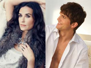Demi Moore and Ashton Kutcher (©PRNewsFoto/Ann Taylor; PRNewsFoto/Paramount Home Entertainment)