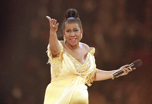(AP Photo/Amy Sancetta, File). FILE - In this Jan. 19, 1993 file photo, singer Aretha Franklin performs at the inaugural gala for President Bill Clinton in Washington.  Franklin died Thursday, Aug. 16, 2018 at her home in Detroit.  She was 76.
