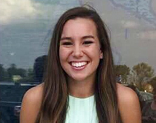 (Iowa Department of Criminal Investigation via AP, File). FILE - This undated file photo released by the Iowa Department of Criminal Investigation shows Mollie Tibbetts, a University of Iowa student who was reported missing from her hometown in the eas...