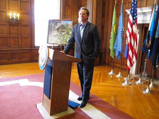 (AP Photo/Matt Volz). Montana Gov. Steve Bullock listens to a question during a news conference in Helena, Mont., on Tuesday, August 21, 2018. The Democrat, who is exploring a possible 2020 presidential run, stood by his comments made over the weekend ...