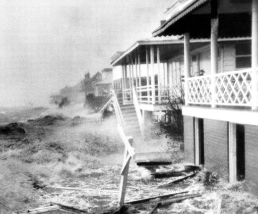 (AP Photo/Clifton Guthrie, File). FILE-In this Oct. 15, 1954 file photo, Hurricane Hazel destruction is seen in Morehead City, N.C. The last time the midsection of the East Coast stared down a hurricane like Florence, Dwight Eisenhower was in the White...