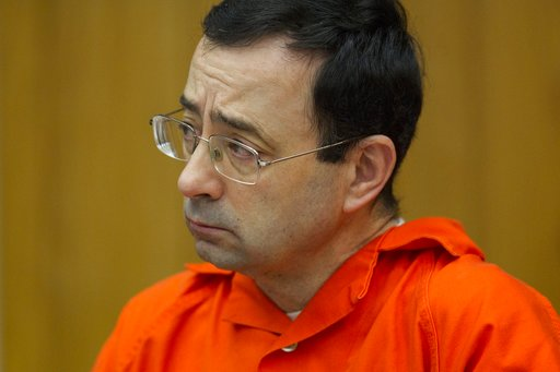 (Cory Morse /The Grand Rapids Press via AP, File). FILE - In this Jan. 31, 2018, file photo, Larry Nassar appears for his sentencing at Eaton County Circuit Court in Charlotte, Mich. Lawyers rushed to meet a Monday, Sept. 10, deadline to file lawsuits ...
