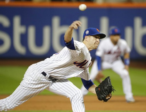 (AP Photo/Frank Franklin II). New York Mets' Jacob deGrom (48) delivers a pitch during the fourth inning of a baseball game against the Miami Marlins Tuesday, Sept. 11, 2018, in New York.