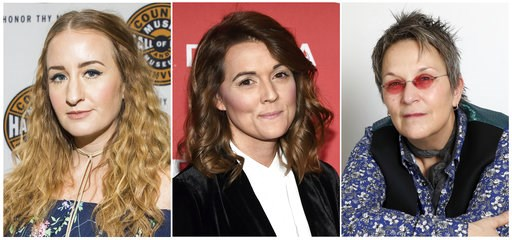 (AP Photo). This combination photo shows Margo Price, from left, Brandi Carlile and Mary Gauthier, who are nominated, along with Jason Isbell for album of the year at the Americana Awards.