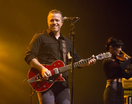 (Photo by Owen Sweeney/Invision/AP, File). FILE - In this Feb. 6, 2018 file photo, singer-songwriter Jason Isbell performs in concert as Jason Isbell & the 400 Unit in Baltimore. Isbell leads the nominees for the Americana Music Association's Honor...