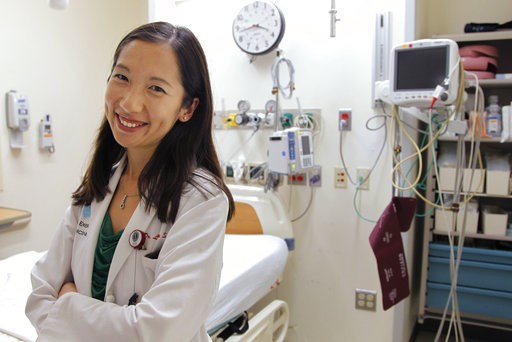 (AP Photo/Steven Senne). FILE - In this Aug. 14, 2012 file photo, Dr. Leana Wen stands in the emergency department at Brigham and Women's Hospital in Boston, during her medical residency. On Wednesday, Sept. 12, 2018, Wen, an immigrant from China who h...