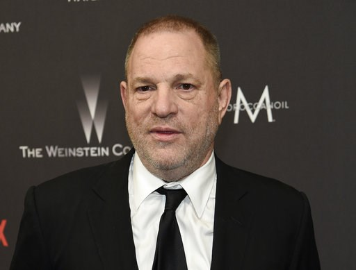(Photo by Chris Pizzello/Invision/AP, File). FILE - In this Jan. 8, 2017, file photo, Harvey Weinstein arrives at The Weinstein Company and Netflix Golden Globes afterparty in Beverly Hills, Calif. A television network has aired video of Harvey Weinste...