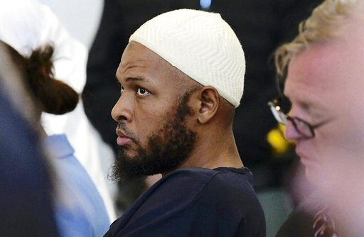 (Roberto E. Rosales/The Albuquerque Journal via AP, Pool, File). FILE - In this Aug. 13, 2018, file photo defendant Siraj Ibn Wahhaj sits in court in Taos, N.M., during a detention hearing. Federal prosecutors say the FBI has arrested five former resid...