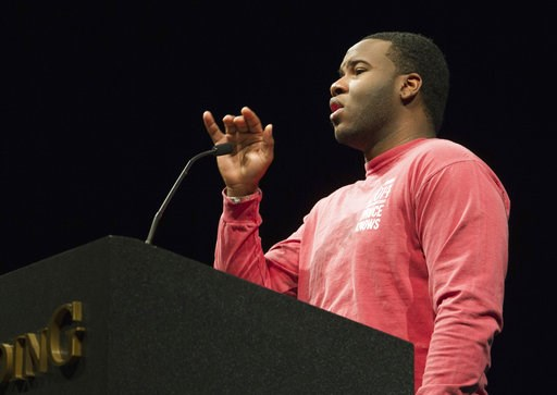 (Jeff Montgomery/Harding University via AP, File). FILE - This March 24, 2014, file photo provided by Harding University in Searcy, Ark., shows Botham Jean, speaking at the university. Jean was fatally shot Sept. 6, 2018, by off-duty officer Amber Guyg...