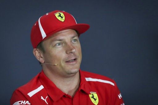 (AP Photo/Yong Teck Lim). Ferrari driver Kimi Raikkonen of Finland speaks during a press conference at the Marina Bay City Circuit ahead of the Singapore Formula One Grand Prix in Singapore, Thursday, Sept. 13, 2018.