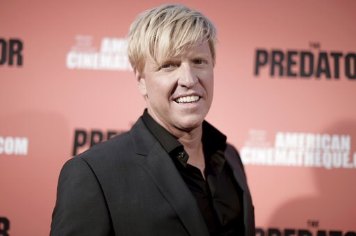 """(Photo by Richard Shotwell/Invision/AP). Jake Busey attends a special screening of """"The Predator"""" at Grauman's Egyptian Theatre on Wednesday, Sept. 12, 2018, in Los Angeles."""