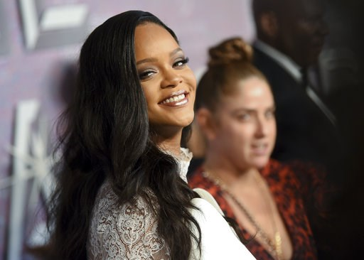 (Photo by Evan Agostini/Invision/AP). Singer Rihanna attends the 4th annual Diamond Ball at Cipriani Wall Street on Thursday, Sept. 13, 2018, in New York.