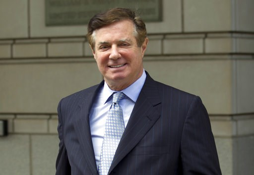 (AP Photo/Jose Luis Magana, File). FILE - In this May 23, 2018, file photo, Paul Manafort, President Donald Trump's former campaign chairman, leaves the Federal District Court after a hearing, in Washington. A federal judge in Washington has denied Pau...