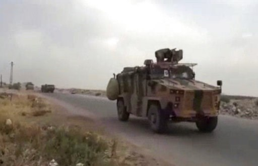 (Central Station for Turkish Intervention, via AP). This frame grab from video provided by Central Station for Turkish Intervention, an activist-operated media group monitoring Turkish activities in Syria, that is consistent with independent AP reporti...