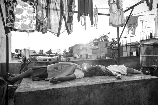 "(Netflix via AP). This image released by Netflix shows a scene from the film ""Roma."" The Mexican film academy announced Friday that it has chosen ""Roma"", by Academy Award-winner Alfonso Cuaron, as its bid for a best foreign language film nomination."