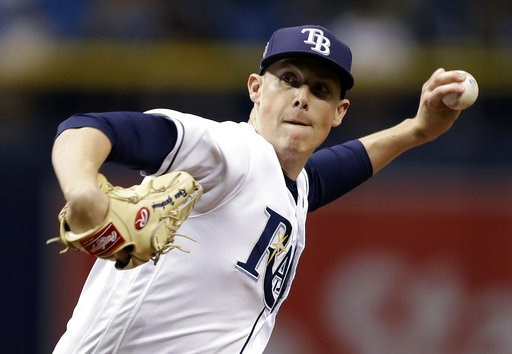 (AP Photo/Chris O'Meara). Tampa Bay Rays pitcher Ryan Yarbrough delivers to the Oakland Athletics during the third inning of a baseball game Friday, Sept. 14, 2018, in St. Petersburg, Fla.