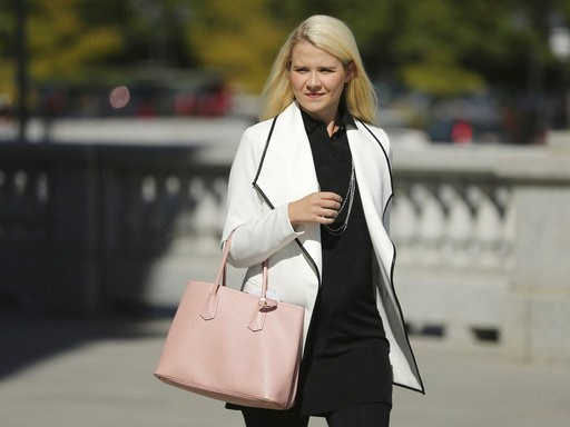 (Jeffrey D. Allred/The Deseret News via AP). Elizabeth Smart walks to her press conference at the Utah State Capitol in Salt Lake City on Thursday, Sept. 13, 2018. Wanda Barzee will be released from Utah State Prison after serving her 15-year sentence ...