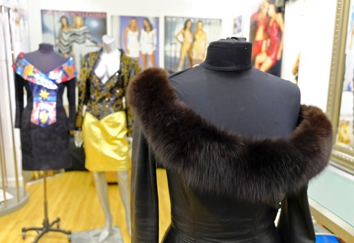 (AP Photo/Eric Risberg, File). FILE - This March 15, 2018, file photo shows a vintage fox trimmed leather dress displayed in the basement of a store in San Francisco. Los Angeles would become the largest city in the U.S. to ban the sale of fur products...