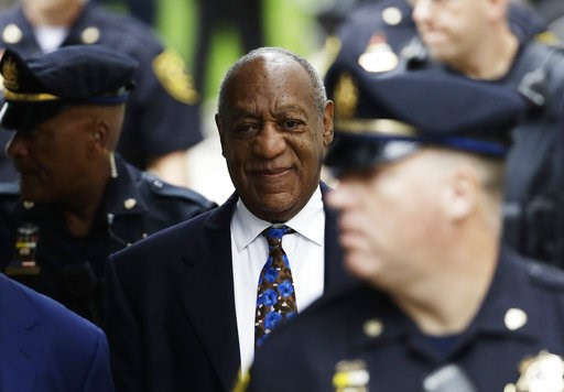 (AP Photo/Matt Slocum). Bill Cosby arrives for his sentencing hearing at the Montgomery County Courthouse, Monday, Sept. 24, 2018, in Norristown, Pa.