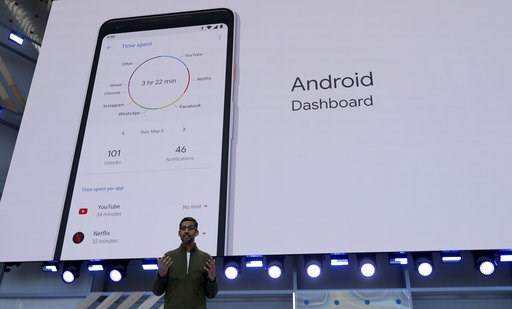 (AP Photo/Jeff Chiu, File). In this Tuesday, May 8, 2018 file photo, Google CEO Sundar Pichai speaks at the Google I/O conference in Mountain View, Calif. Google is expected to introduce two new smartphones in its relentless push to increase the usage ...