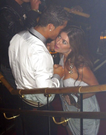 (Matrixpictures via AP). In this June 2009 photo made available to the Associated Press on Friday Oct. 5, 2018, soccer star Cristiano Ronaldo is pictured with Kathryn Mayorga in Rain Nightclub in Las Vegas. A lawyer for Mayorga, who is alleging that Ro...