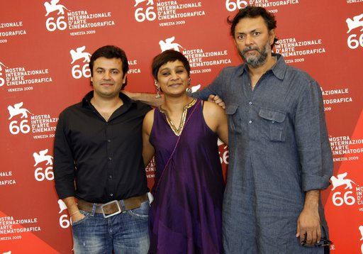 (AP Photo/Joel Ryan, File). FILE - In this Sept. 9, 2009 file photo, Bollywood producer Vikas Bahl, left, poses with editor Bharathi Mehra and director Rakeysh Omprakash Mehra during a photo call for the film 'Delhi 6' at the 66th edition of the Venice...
