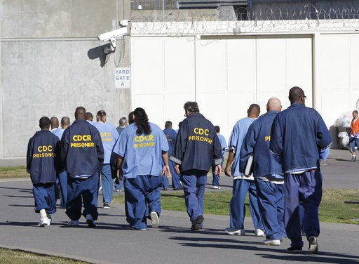 (AP Photo/Rich Pedroncelli, File). FILE - In this Feb. 26, 2013, file photo, inmates walk through the exercise yard at California State Prison Sacramento, near Folsom, Calif. The federal receiver who controls medical care in California state prisons is...
