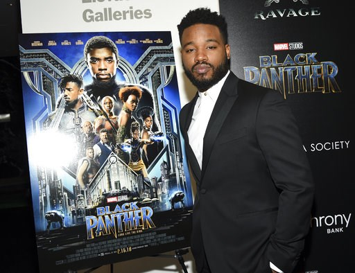 "(Photo by Evan Agostini/Invision/AP, File). FILE - In this Feb. 13, 2018 file photo, director Ryan Coogler attends a special screening of ""Black Panther"" in New York. Coogler will write and direct the sequel to ""Black Panther."" Neither a start date nor..."