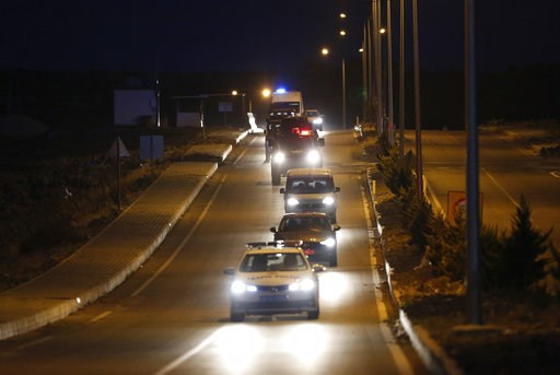(AP Photo/Emrah Gurel). A convoy with U.S. pastor Andrew Brunson sitting inside a car arrives for his trial in Izmir, Turkey, early Friday, Oct. 12, 2018. The trial against an American pastor at the heart of a diplomatic dispute between Turkey and the ...