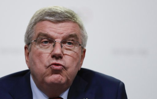 (AP Photo/Natacha Pisarenko). International Olympic Committee President Thomas Bach gives a press conference at the end of the 133rd IOC session in Buenos Aires, Argentina, Tuesday, Oct. 9, 2018.