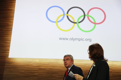 (AP Photo/Natacha Pisarenko). International Olympic Committee President Thomas Bach, leaves at the end of the 133rd IOC session in Buenos Aires, Argentina, Tuesday, Oct. 9, 2018.