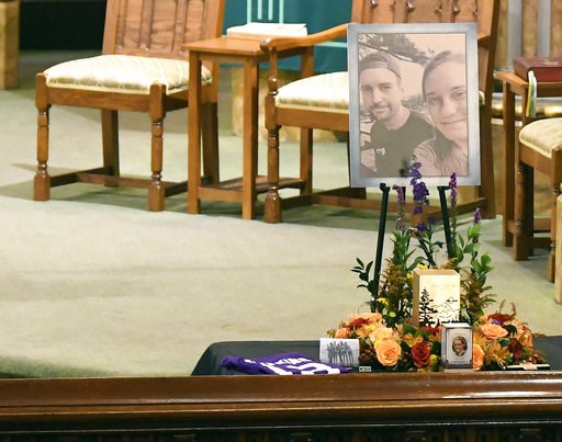 (AP Photo/Hans Pennink). A urn with cremated ashes of Allison King is set in place as friends and family prepare for a funeral mass atSt. Stanislaus Roman Catholic Church in Amsterdam, N.Y., for eight of the 20 people killed in last Saturday's fatal l...