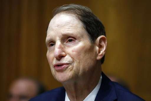 (AP Photo/Jacquelyn Martin, File). FILE - In this June 28, 2018, file photo, Sen. Ron Wyden, D-Ore., ranking member of the Senate Finance Committee, speaks during a hearing on the nomination of Charles Rettig for Internal Revenue Service Commissioner o...