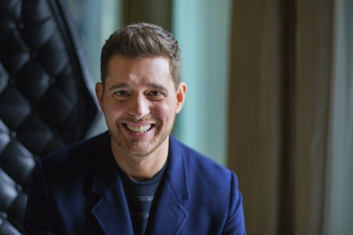 """(Michelle Siu/The Canadian Press via AP, File). FILE - In this Tuesday, Oct. 18, 2016 file photo,Canadian singer Michael Buble poses for a photo to promote the upcoming Oct. 21 release of his new album """"Nobody But Me"""" in Toronto. Grammy-winning singer ..."""