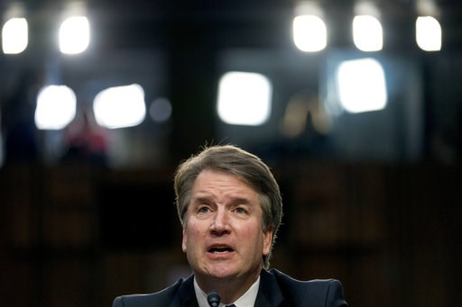 (AP Photo/Andrew Harnik). In this Sept. 4, 2018 photo, President Donald Trump's then Supreme Court nominee Judge Brett Kavanaugh, speaks before the Senate Judiciary Committee on Capitol Hill in Washington. Just 1 in 4 people think Brett Kavanaugh was c...