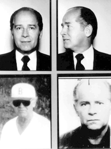 "(FBI via AP, File). FILE - These 1980s FBI handout file photos show Massachusetts mobster James ""Whitey"" Bulger. Officials with the Federal Bureau of Prisons said Bulger died Tuesday, Oct. 30, 2018, in a West Virginia prison after being sentenced in 20..."