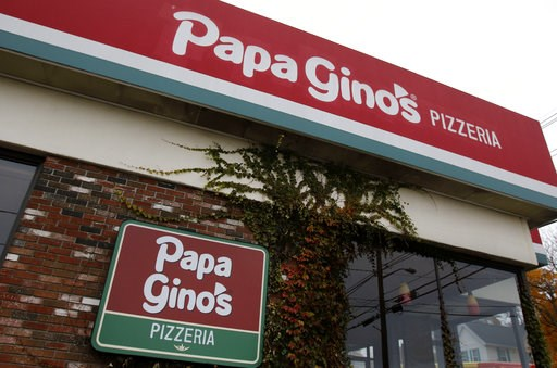 (AP Photo/Bill Sikes). A Papa Gino's Pizzeria location stands closed, Monday, Nov. 5, 2018, in Marlborough, Mass. The company that owns the the pizza parlor and D'Angelo sandwich shop chains confirmed it closed almost 100 locations throughout New Engla...