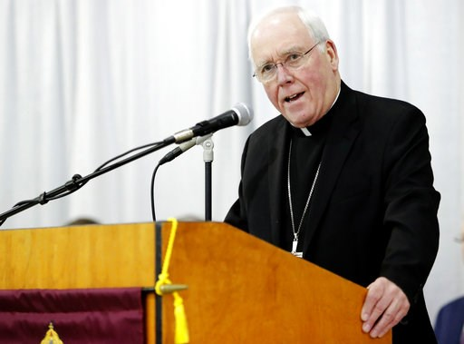 (AP Photo/Frank Franklin II). Bishop Richard Malone, Bishop of Buffalo, speaks during a news conference Monday, Nov. 5, 2018, in Cheektowaga, N.Y. Malone has resisted calls to step down amid reports that he left accused priests in ministry and excluded...