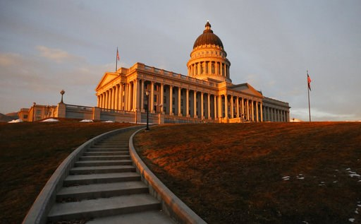 (AP Photo/Rick Bowmer, File). FILE - In this March 8, 2018, file photo, the sunsets on the Utah State Capitol, in Salt Lake City. After months of fierce debate and campaigning, Mormon church leaders, state lawmakers and the governor all opponents of th...