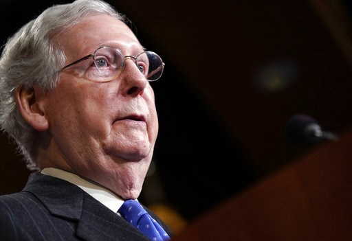 (AP Photo/Pablo Martinez Monsivais). Senate Majority Leader Mitch McConnell of Ky., speaking to members of the media at the Capitol in Washington, Wednesday, Nov. 7, 2018.