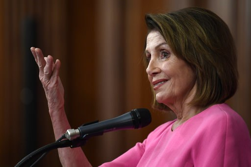 (AP Photo/Susan Walsh). House Minority Leader Nancy Pelosi of Calif., speaks during a news conference on Capitol Hill in Washington, Wednesday, Nov. 7, 2018.