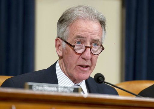 (AP Photo/Jose Luis Magana, File). FILE - In this April 12, 2018, file photo, House Ways and Means Committee Ranking Member Rep. Richard Neal, D-Mass., speaks during a hearing on Capitol Hill in Washington. With the Democrats gaining control of the Hou...