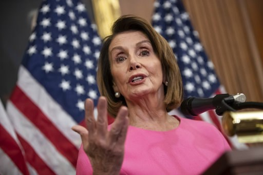(AP Photo/J. Scott Applewhite). House Minority Leader Nancy Pelosi, D-Calif., speaks in during a news conference on Capitol Hill in Washington, Wednesday, Nov. 7, 2018. Pelosi says she's confident she will win enough support to be elected speaker of th...
